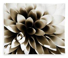 Sepia Dahlia Fleece Blanket