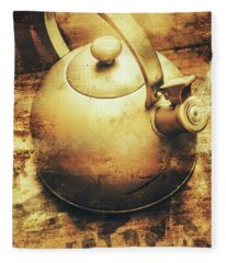 Sepia Toned Old Vintage Domed Kettle Fleece Blanket
