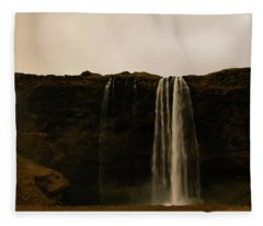 Sepia Waterfall Fleece Blanket
