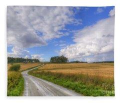 September In The Countryside Fleece Blanket