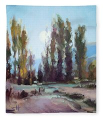 September Moon Fleece Blanket