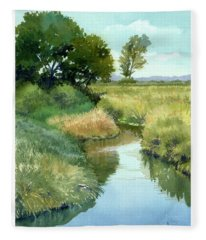 September Morning, Allen Creek Fleece Blanket
