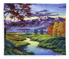 September Sunrise Fleece Blanket