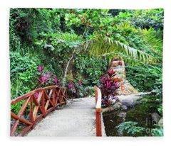 Serene Bridge Fleece Blanket