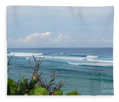 Serene Ocean View Fleece Blanket