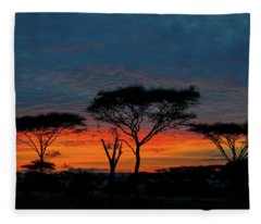 Serengeti Sunrise Fleece Blanket