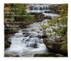 Serenity Prayer Fleece Blanket