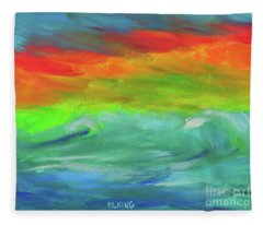 Serenity Sunrise  Fleece Blanket