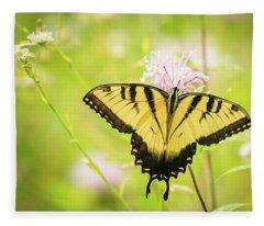 Series Of Yellow Swallowtail #6 Of 6 Fleece Blanket