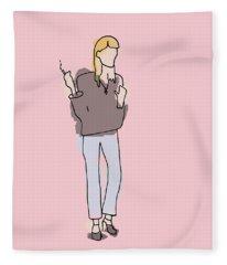 Series Pink 003 Fleece Blanket