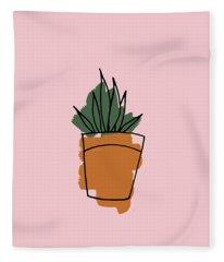 Series Pink 009 Fleece Blanket