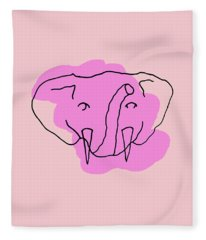 Series Pink 15 Fleece Blanket
