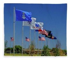 Service Flags Fleece Blanket
