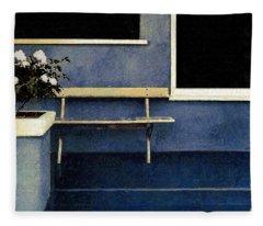 Set Piece With Gardenias Fleece Blanket