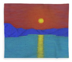 Setting Sun On The Olifants Fleece Blanket