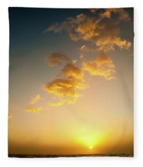 Setting Sun Fleece Blanket