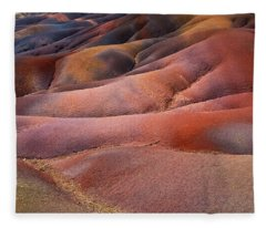 Seven Colored Earth In Chamarel 8. Series Earth Bodyscapes. Mauritius Fleece Blanket