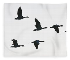 Sevenfold Geese Fleece Blanket