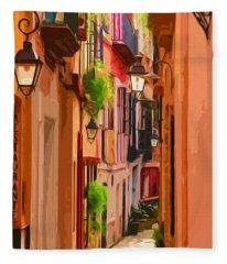 Seville, Colorful Spain Fleece Blanket