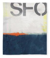 Sfo- Abstract Art Fleece Blanket