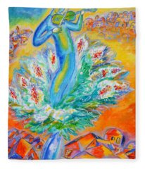 Shabbat Shalom Fleece Blanket