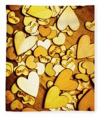 Shabby Love Artwork Fleece Blanket