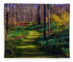 Shaded Spring Stroll Fleece Blanket