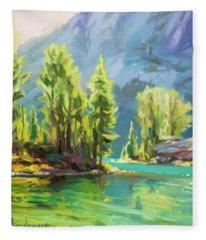 Shades Of Turquoise Fleece Blanket