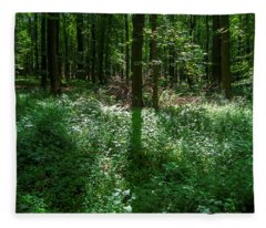 Shadow And Light In A Forest Fleece Blanket