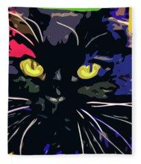 Shadow Cat Fleece Blanket