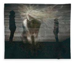Shadow Girl Fleece Blanket