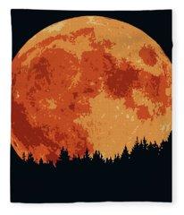 Shadow Of The Moon  Fleece Blanket