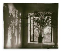Shadows Dance Upon The Wall Fleece Blanket