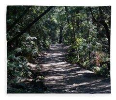 Shady Road On Mt Tamalpais Fleece Blanket