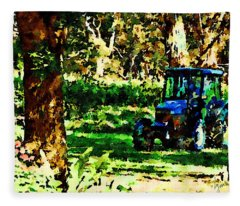 Shady Tractor Fleece Blanket