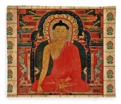 Shakyamuni Buddha Fleece Blanket