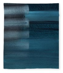 Shallow- Abstract Art By Linda Woods Fleece Blanket