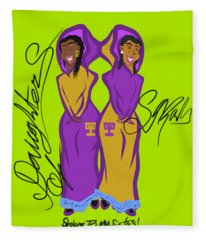 Shalom Sistas Fleece Blanket