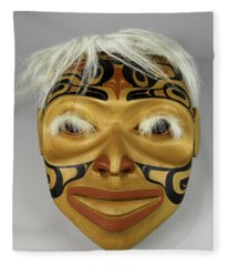 Shaman's Mask Fleece Blanket