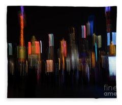 Shanghai Skyline  Fleece Blanket