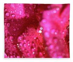 Sharp Wet Rose Fleece Blanket