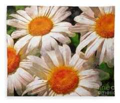 Shasta Daisies 2015 Fleece Blanket
