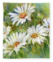 Shasta Daisies Fleece Blanket