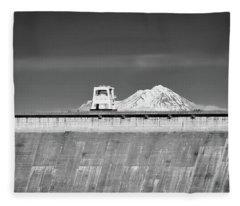 Shasta Dam  Fleece Blanket