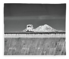 Shasta Dam  Fleece Blanket