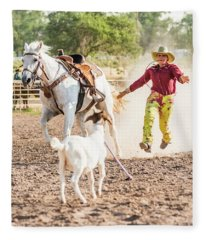 Shawnee Sagers Goat Roping Competition Fleece Blanket