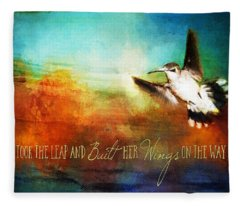 She Built Her Wings Fleece Blanket