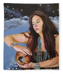 She Paints With Stars Fleece Blanket