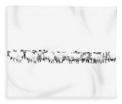 Fleece Blanket featuring the photograph Sheeple  by Andrea Kollo