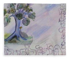 Shehecheyanu Fleece Blanket